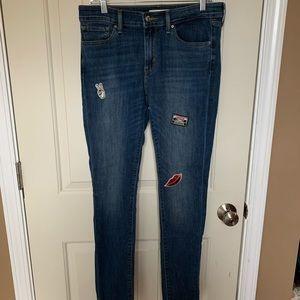 Levi patch skinny jeans